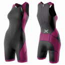 2XU Comp Trisuit W/ Rear Zip Women WT2329d CHR/UVT