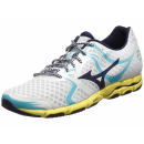 MIZUNO Wave Hitogami Women White/Blue Depths/Ayuarius...