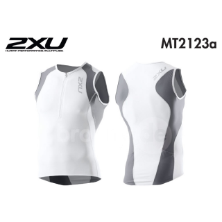 2XU Men`s Long Distance Tri Singlet ICE X Men MT2123a white/steel