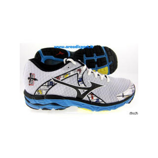 MIZUNO Wave Inspire 10 Women White/Black/Aquarius J1GD144409