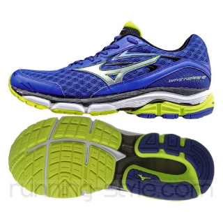 MIZUNO Wave Inspire 12 Men Surf the Web / Silver / Safety Yellow  J1GC164403