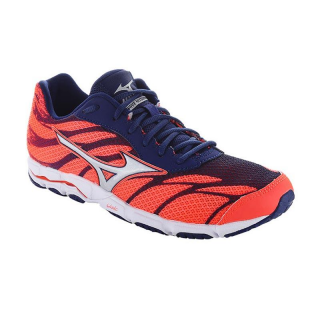 MIZUNO Wave Hitogami 3 Women Fiery Coral / Silver / Blue Depths J1GB168004