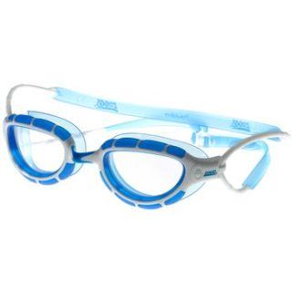 ZOGGS Schwimmbrille  Predator Klar Glas Rahmen Silber Blau 302863