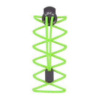 Nathan Lock Lances 1160NGG Elastic Shoelance&Fastening SystemReflective Gecko Green