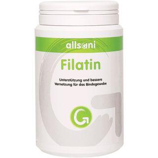 Allsani Filatin Nahrungsergänzungsmittel mit Kollagenhydrolysat, Vitaminen und Mineralstoffen.