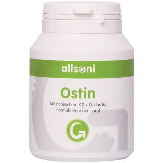 Allsani Ostin Vitamin K2 Kapseln mit Vitamin D3 sowie Brennnesselextrakt 90 Kapseln