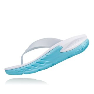 Hoka Ws Ora Revovery Flip HOK1018353WBTP   - White/Blue Topaz
