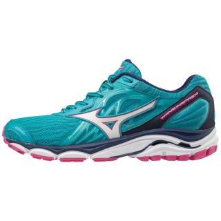 MIZUNO Wave Inspire 14 PeacockBlue/White/ Fuchsia Purple J1GD184407
