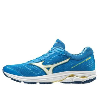 MIZUNO Wave Rider 22 Women Brilliant Blue / White / Primrose Yellow J1GD183116