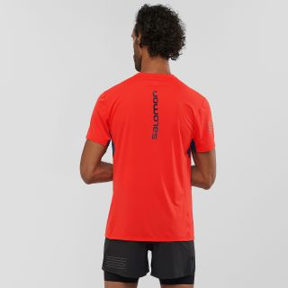 Salomon S/LAB SENSE TEE M Farbe Racing Red / NIGHT SKY / WHITE