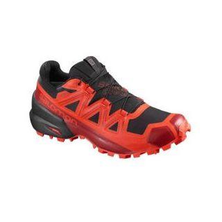 Salomon Schuhe SPIKECROSS 5 GTX Black/Racing Red/Red Dahlia